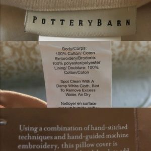 """Pottery Barn Accents - Pottery Barn Embroidered """"Pinecone & Berry"""""""